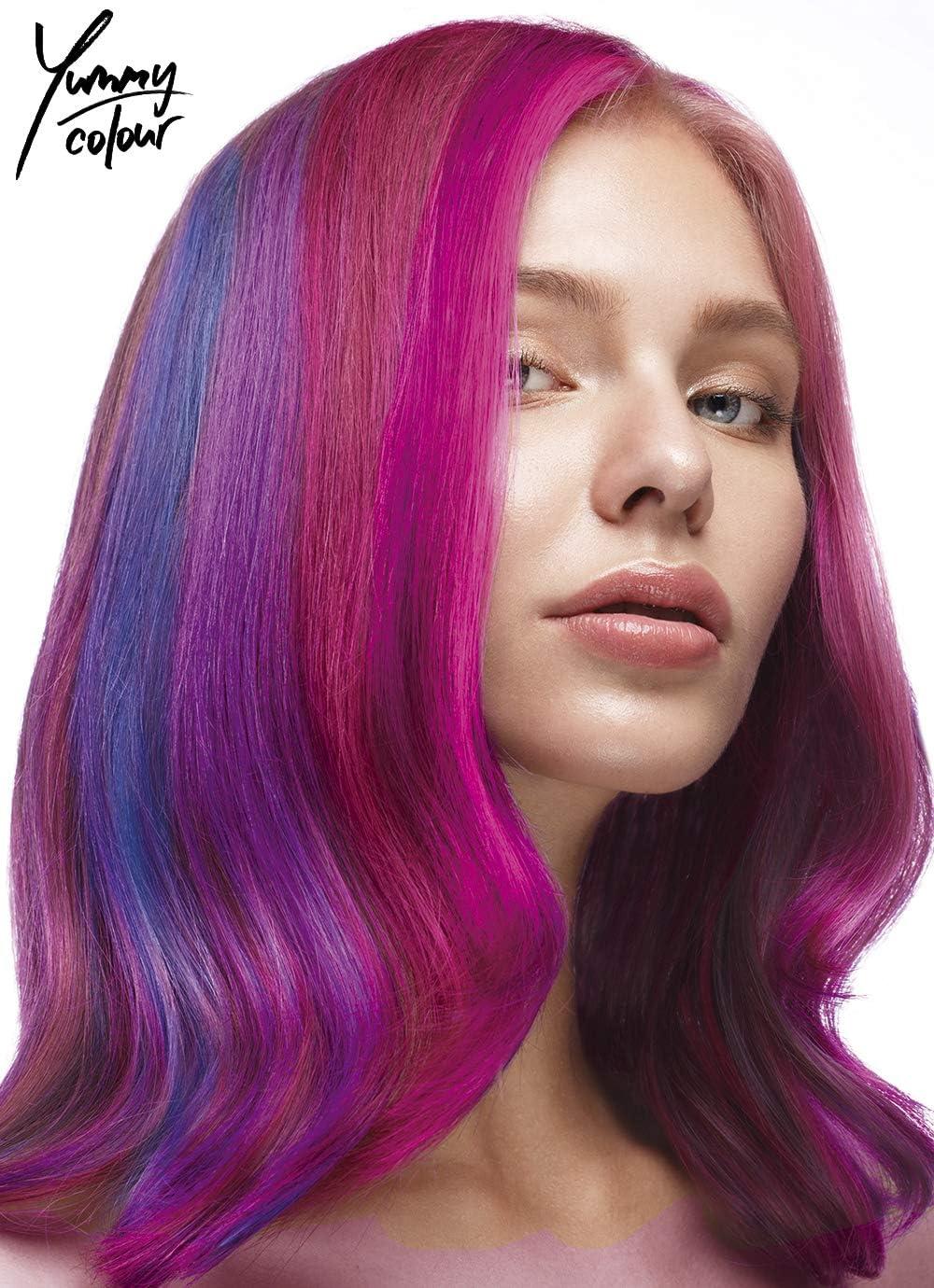 Stargazer Yummy Color 4 Shade Semitransparente Tinte de pelo Tiras Kit