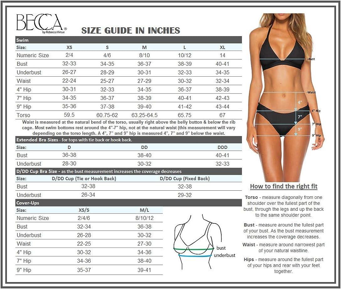 Becca by Rebecca Virtue Womens Fine Line Ribbed Kiera Bralette Bikini Top