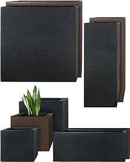 Pflanzwerk® Maceta Cube Antracita Plástico Mejor Precio *