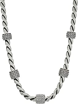 Brighton Meridian Necklace Silver Stone