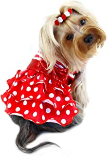 Klippo Dog/Puppy Sundress/Party/Christmas/Holiday/Valentine's Day/Festive/Fancy/Formal Sparkling Bow Dress - X-Small