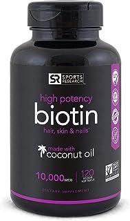 Biotin Hair Skin Nails With Coconut Oil 10000 Mcg - 120 Softgels