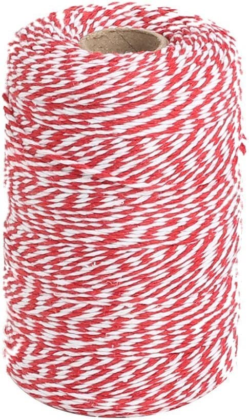 Vivifying Red and White Bakers Twine Price reduction 656 Free Shipping New Cotton Feet String for