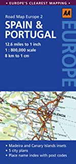Spain and Portugal: No. 2: AA Road Maps Europe