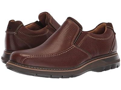 Clarks Un Ramble Step (Mahogany Leather) Men