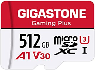 Gigastone 512GB Micro SD Card, Gaming Plus, MicroSDXC Memory Card for Nintendo-Switch, 100MB/s, 4K Video Recording, Action...