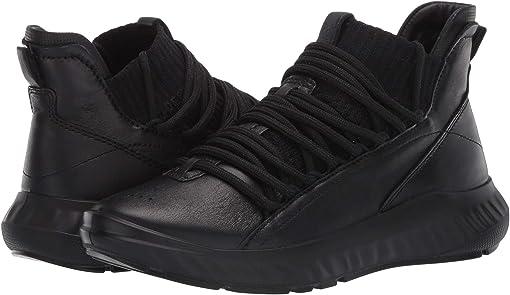 Black/Black Cow Leather/Textile