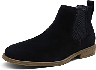 JOUSEN Men's Chelsea Boots Casual Suede Elastic Ankle Boots Simple Style Dress Boots for Men