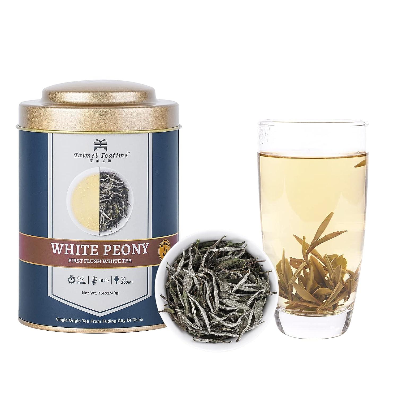 Taimei Teatime Premium White Tea Te High order Leaf Loose Oklahoma City Mall Peony