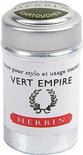 J. Herbin Fountain Pen Ink - 1 tin of 6 cartridges - Vert Empire