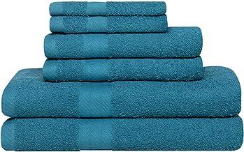 Baltic Linen Ultra 100% Cotton Towel Set, 6 Piece, Teal