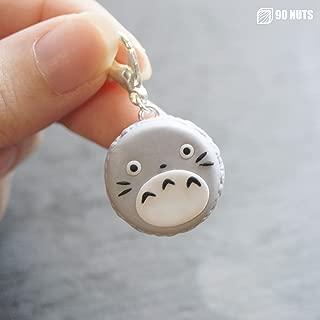 Totoro Macaron Charm Polymer Clay Anime Keychain