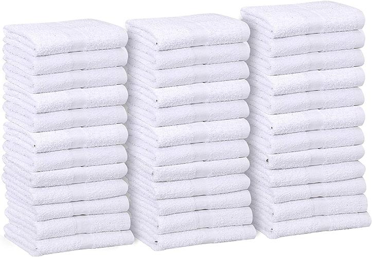 Or Textiles Lot de 60(5Douzaine) Blanc Economy 15x 25Serviette de toilette 100% coton 1kilogram Douzaine (60)