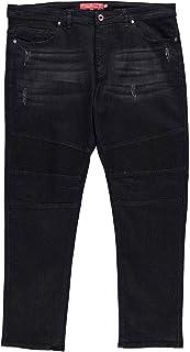 D555 Jeans Denim Domenic Tapered Fit Mens Trouser Pants Black