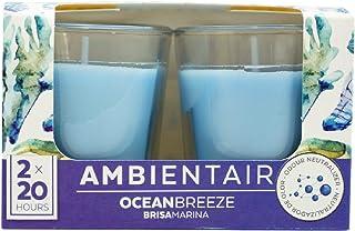 Ambientair VV002OCAAGC aromáticas de Aroma océano Brisa Marina. Dos Unidades. Velas perfumadas con Cera Vegetal y Perfume ...