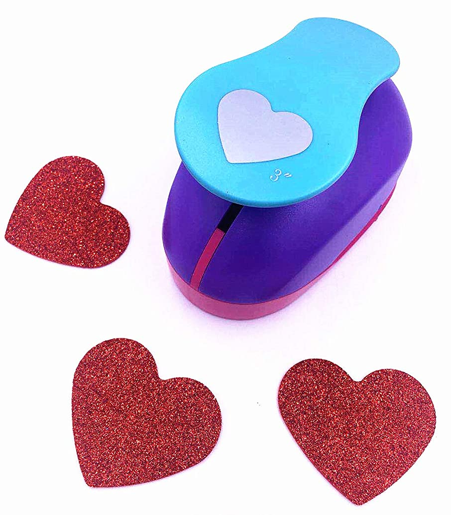 TECH-P Creative Life XXX-Large Shape Size 3-Inch(7.5cm) Multi-pattern Hand Press Album Cards Paper Craft Punch,card Scrapbooking Engraving Kid Cut DIY Handmade Hole Puncher,Paper Craft Punch. (Heart)