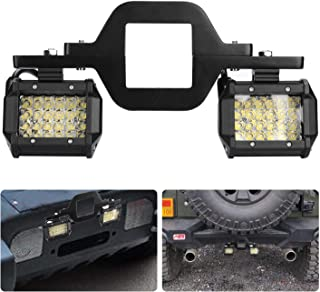 """ACT Sport 2.5"""" Tow Hitch Mounting Bracket Universal Tube Clamps Trailer Mount Kit for LED Backup Reverse Lights Rear Search Lighting Off Road Lights LED Work Lamps for Trailer Truck SUV RV"""