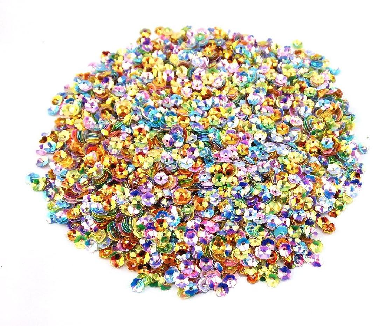 Honbay 100 Gram 6mm DIY Colorful Plum Blossom Flower Sequins Craft Supplies