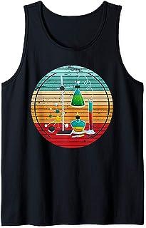 Elementos Químicos Retro Laboratorio Ciencia Químico Química Camiseta sin Mangas