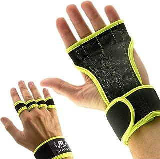 Mava 运动交叉训练手套带护腕,健身房锻炼,举重和健身硅胶垫,无 Calluses-男式和女式举重手套,结实抓握