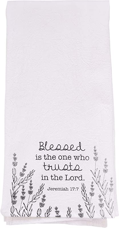 Christian Art Gifts Trust In The Lord Cotton Tea Towel Jeremiah 17 7