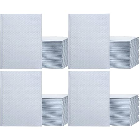 """iMBAPrice 100#4 (9.5"""" x 14.5"""") Pure White Color SELF Seal Poly Bubble MAILERS Padded Shipping ENVELOPES (Total 100 Bags)"""