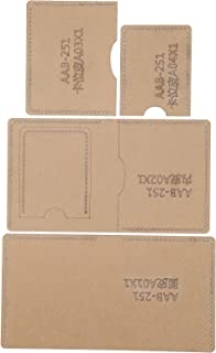 Modello in pelle acrilica, modello in acrilico trasparente portatile fatto a mano, comodo portafoglio corto per uso generi...