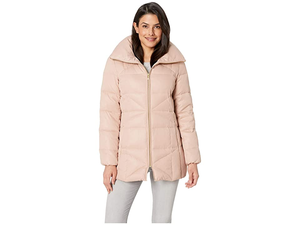 Cole Haan Sateen Down Stand Collar Coat (Blush) Women