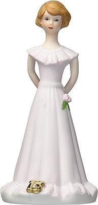 "Enesco Growing Up Girls ""Brunette Age 13"" Porcelain Figurine, 5.5"""