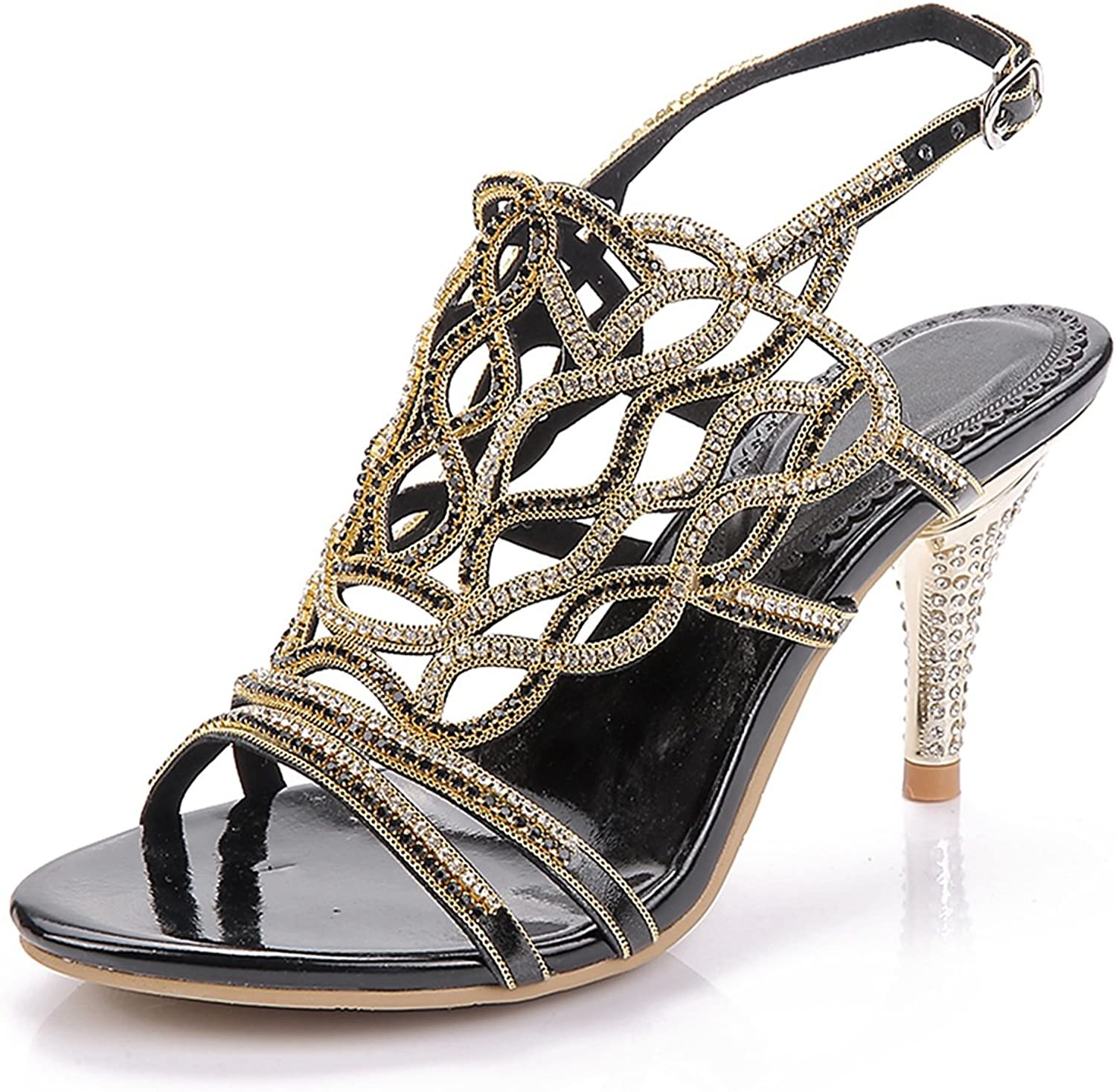 Women's shoes Glitter Leather Spring Fall Basic Pump Sandals Stiletto Heel for Casual gold Silver