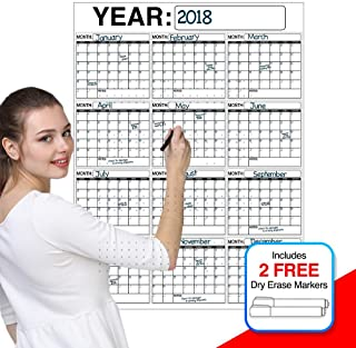 Best Oversized 12 Month Dry Erase Wall Calendar Planner and Organizer 3 x 4 ft Vertical Laminated Dry or Wet Erase to Plan... photo