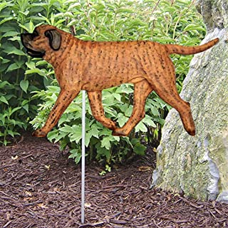 Ky & Co YesKela Mastiff Outdoor Garden Dog Sign Hand Painted Figure Apricot Brindle