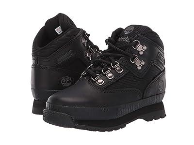 Timberland Kids Euro Hiker (Infant/Toddler) (Black Smooth/Black) Boys Shoes