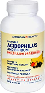 Chewable Acidophilus with Bifidus, Banana Flavor 100 Wafers
