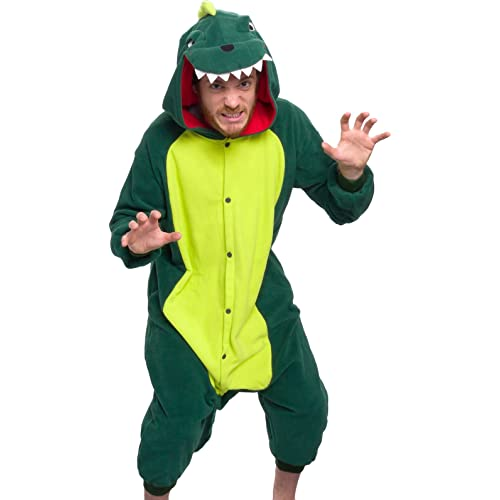 8c6900e330d9 Silver Lilly Unisex Adult Pajamas - Plush One Piece Cosplay Animal Dinosaur  Costume