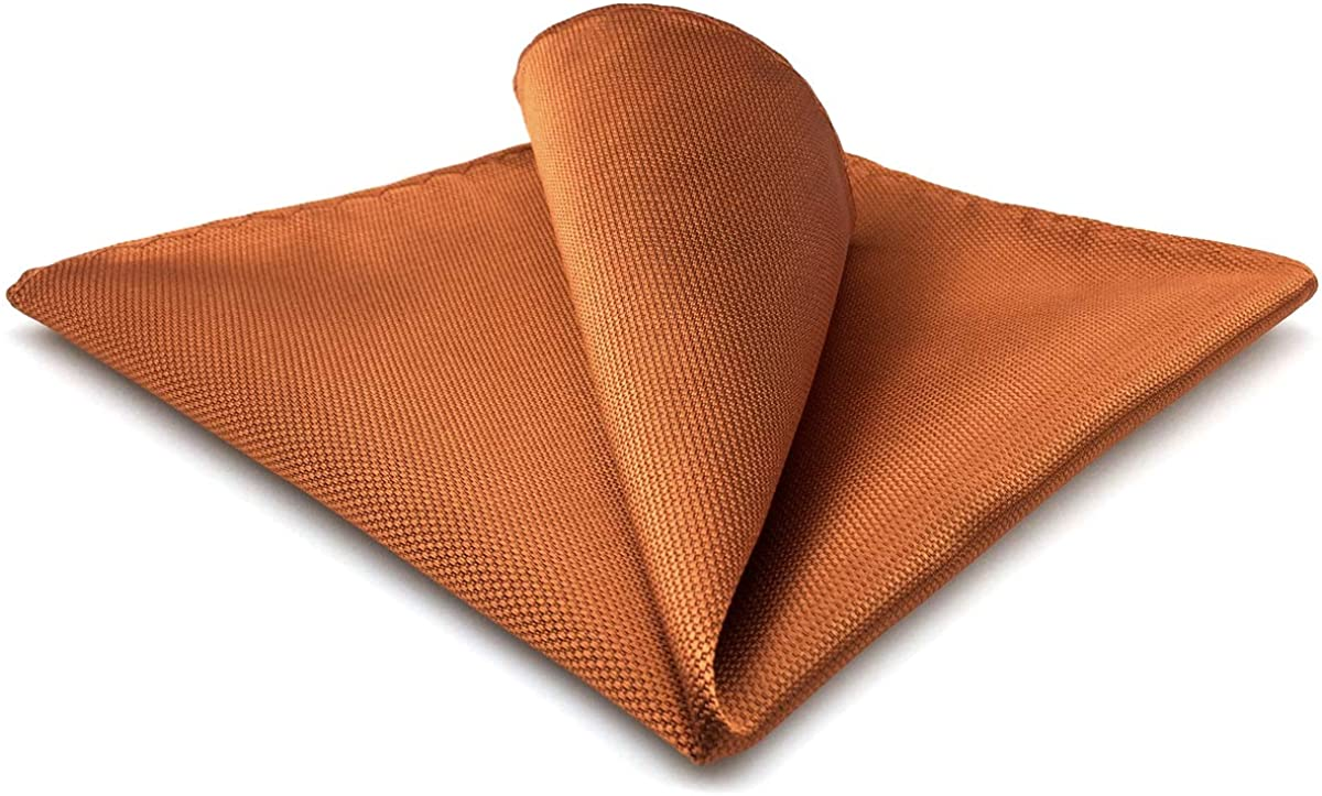 Max 43% OFF SHLAXWING Solid Orange Silk Pocket Spasm price Men Jacquard for Wove Square