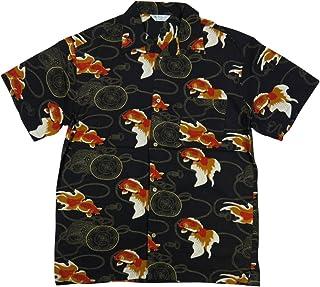(スタイルド バイ オリジナルズ)Styled by Originals 金魚 鼓 半袖 レーヨン100% 和柄 アロハシャツ