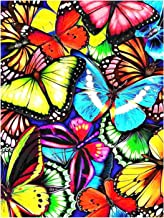 5D Diamond Painting Kit Charming Butterfly DIY Arts Craft Gift for Adults Children Beginners Full Drill Diamond Painting E...