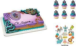 Disney Descendants 2 Rock This Style Cake Decorating Set PLUS 12 Matching Cupcake Rings Birthday Party Supplies