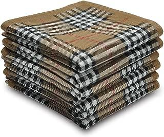 Selected Hanky Men's Cotton Handkerchief 6 Piece Gift Set