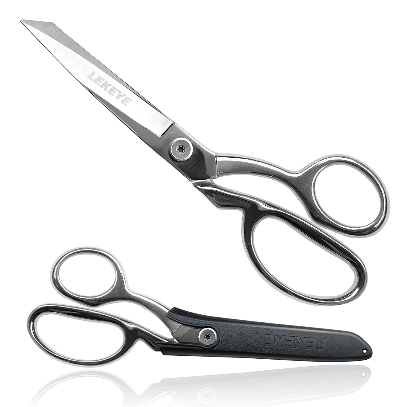"""LEKEYE Dressmaker's Scissors Heavy-Duty 8"""" Fabric Cutting Shears for Smooth Multiple Layer Cutting