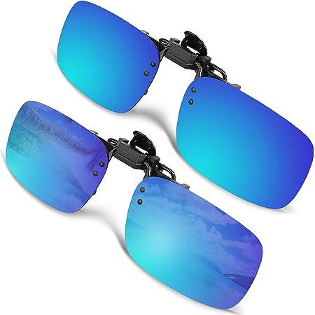 Flip Sonnenbrille Brille Polbrille Sonnenbrillenaufsatz Clip Polarisiert Unisex