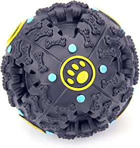 Giggle Ball Dog Toy Colorful Dog Ball with Bell Pet Smarter Interactive IQ Toys-2156
