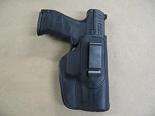 H&K VP9, VP40 Heckler & Koch IWB Leather In The Waistband Concealed Carry Holster BLACK RH