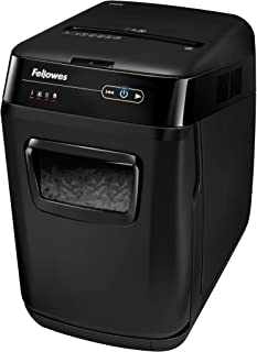 Fellowes AutoMax 150C 150-Sheet Cross-Cut Auto Feed Shredder with Jam Protection for Hands-Free Shredding (4680001), Black