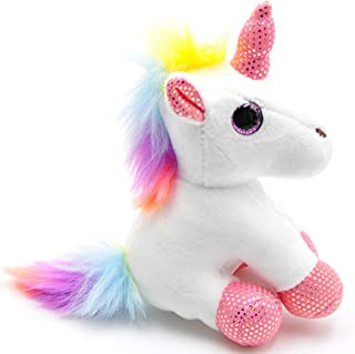 Ruzucoda Plush Unicorn Keychain Stuffed Animals Toys Backpack Ornaments Pendant Key Ring