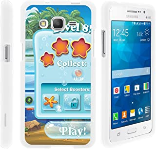 TurtleArmor | Compatible with Samsung Galaxy Grand Prime Case | G530 | Go Prime [Slim Duo] Smooth Matte Hard 2 Piece Slim Shell Snap On Cover on White Video Games - Mobile Game