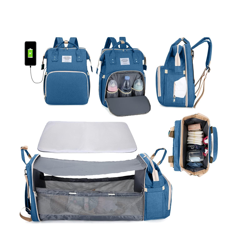 Diaper Easy-to-use Bag Backpack Travel Infant Over item handling ☆ Toddler Gear Foldable