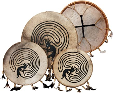 Shaman drum painted with goat skin, Frame Drum, handmade … (14 inch)