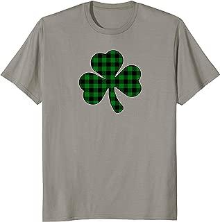 Green Buffalo Plaid Shamrock   St. Patrick's Day Shirt